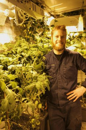 Darryl's hydroponic garden in Antarctica.