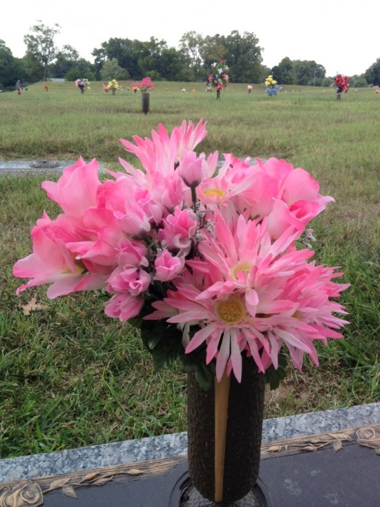 Plastic-Tulips-and-Mums-Evergreen-Cemetery-082512-1-550x733