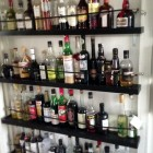 liquor shelves