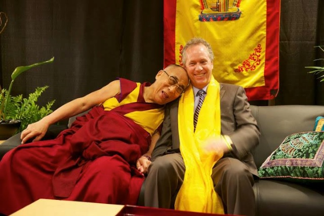 Dalai Lama and Louisvilles Compassionate Mayor Greg Fischer May 2013 <a href=http://gardenrant.com/2013/06/bless all parks big and small.html>Bless All Parks Big and Small</a>