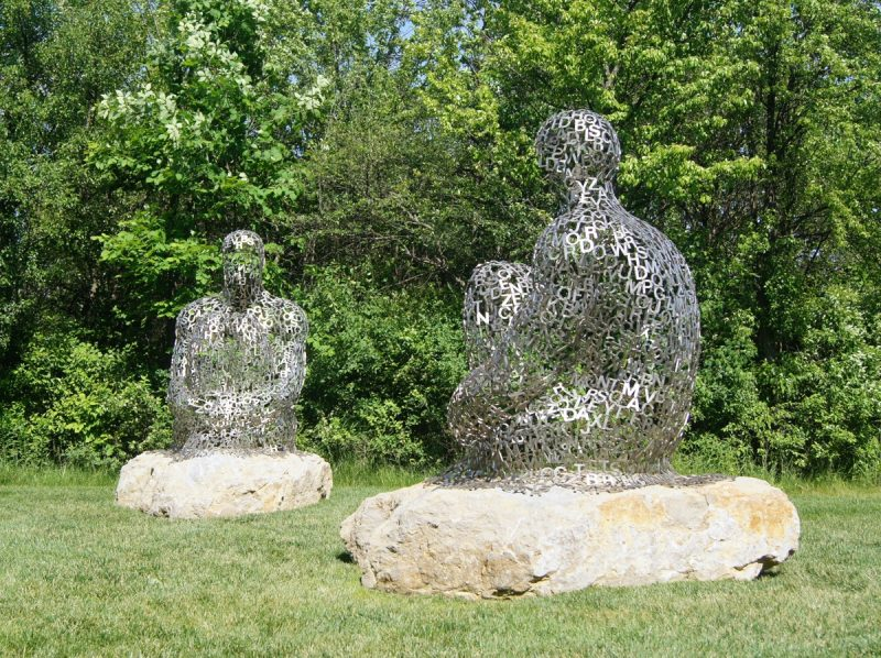 Sculptures Make These Rocks Less Lonely In The Frederick Meijer Gardens,  Grand Rapids, Michigan