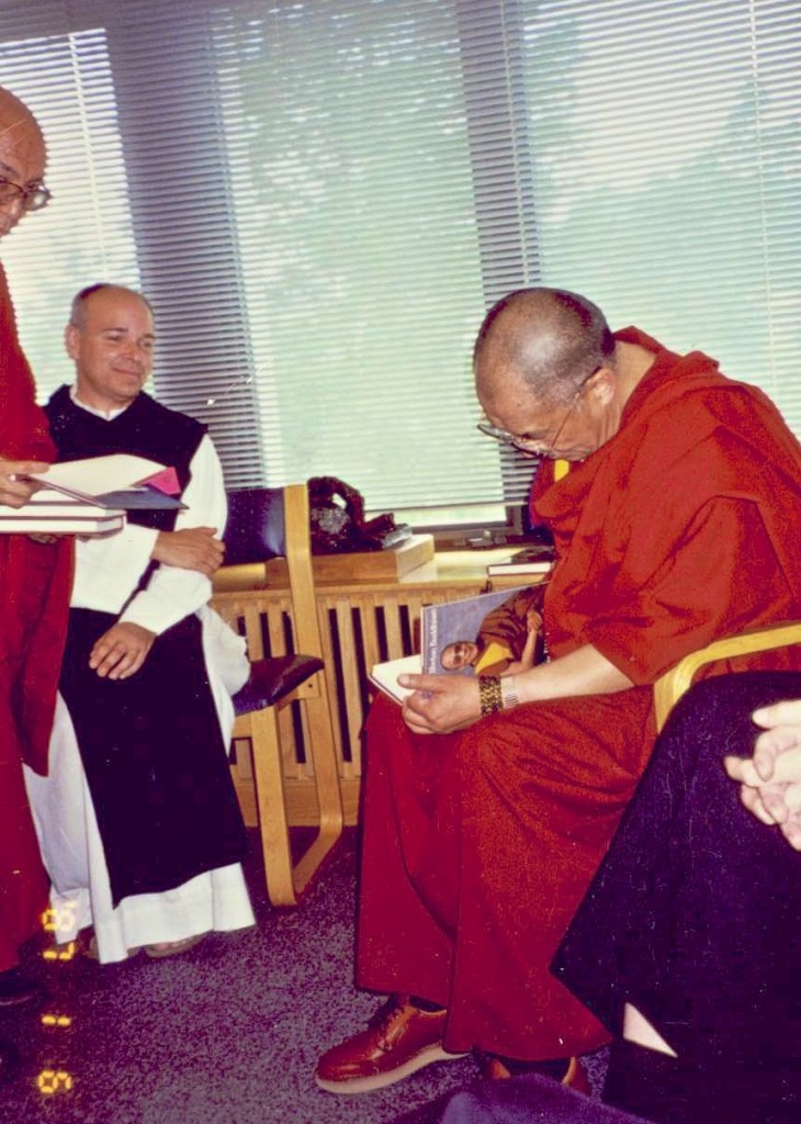 His Holiness The Dalai Lama with Brother Joshua Brands at Gethsemani in 1996