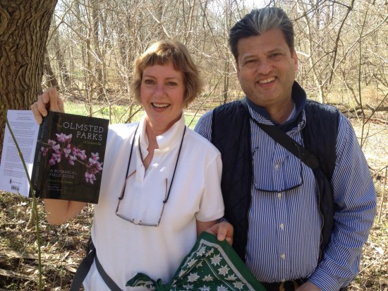 Pat and Georg Uebelhart stroll through Louisville's Cherokee Park on April 1st.
