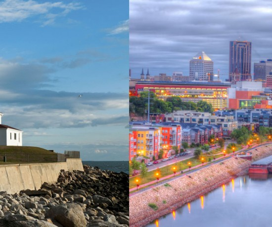 Both images courtesy of Shutterstock (Image at right is St. Paul, not St. Cloud, closest I could get)