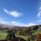 Ski slopes in fall