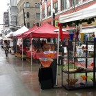 The winter Farmer's Market here in Boise takes up 3 city blocks.