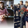 Jacqueline and President Kennedy in Dallas the day of his assassination. Photo credit s