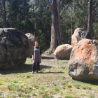 Mel Ogden at home in South Bullarto in Victoria Australia. Stones up to 50,000 LBS.