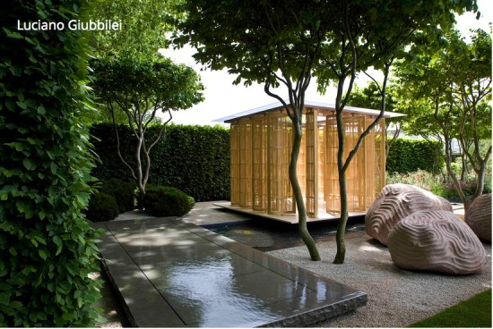 Gold medal winning garden at the Chelsea Flower Show by Luciano Giubbilei
