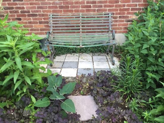 Bench, garden, Top Hill 061716