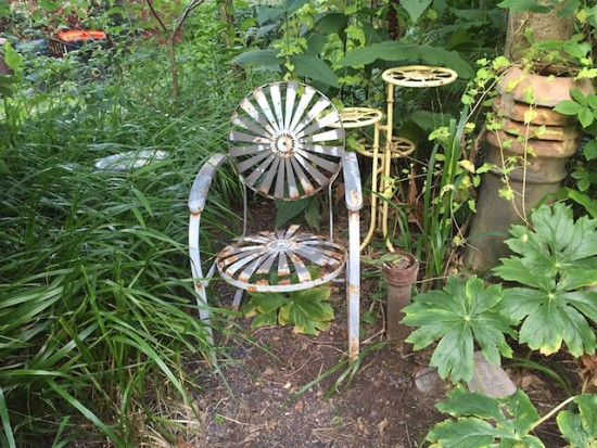 Chair, garden, top hill 061716