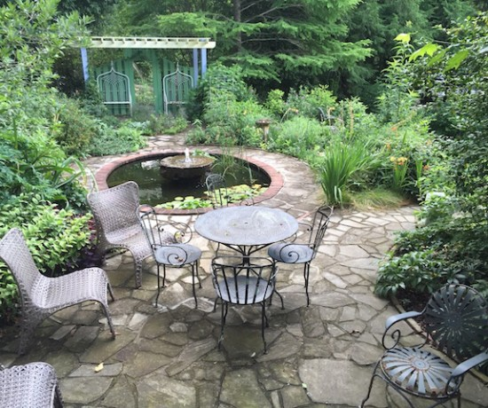 Top Hill garden, pond, pergola 070516 (1)
