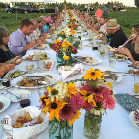 Dinner with 105 of my favorite Perennial Plant Association friends at Tangletown Gardens and Farm, Plato, MN on August 2nd.