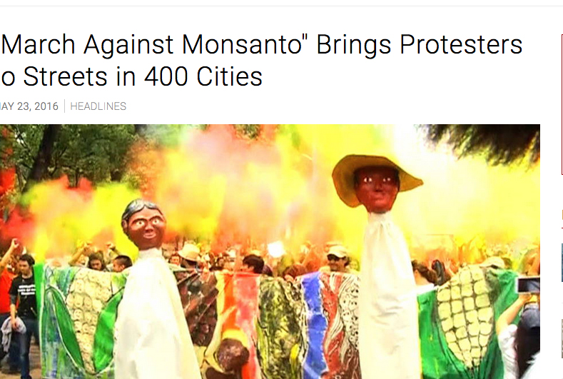 Protesters won't have Monsanto to kick around any more, if this goes through.