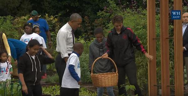 president-in-garden