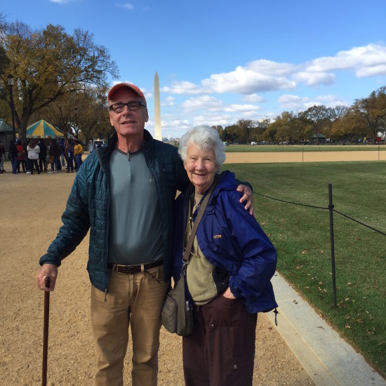 On Washington's National Mall with Aunt Rose.