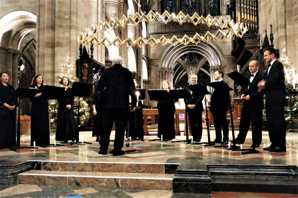 Ex Cathedra at Hereford Cathedral copyright Anne Wareham