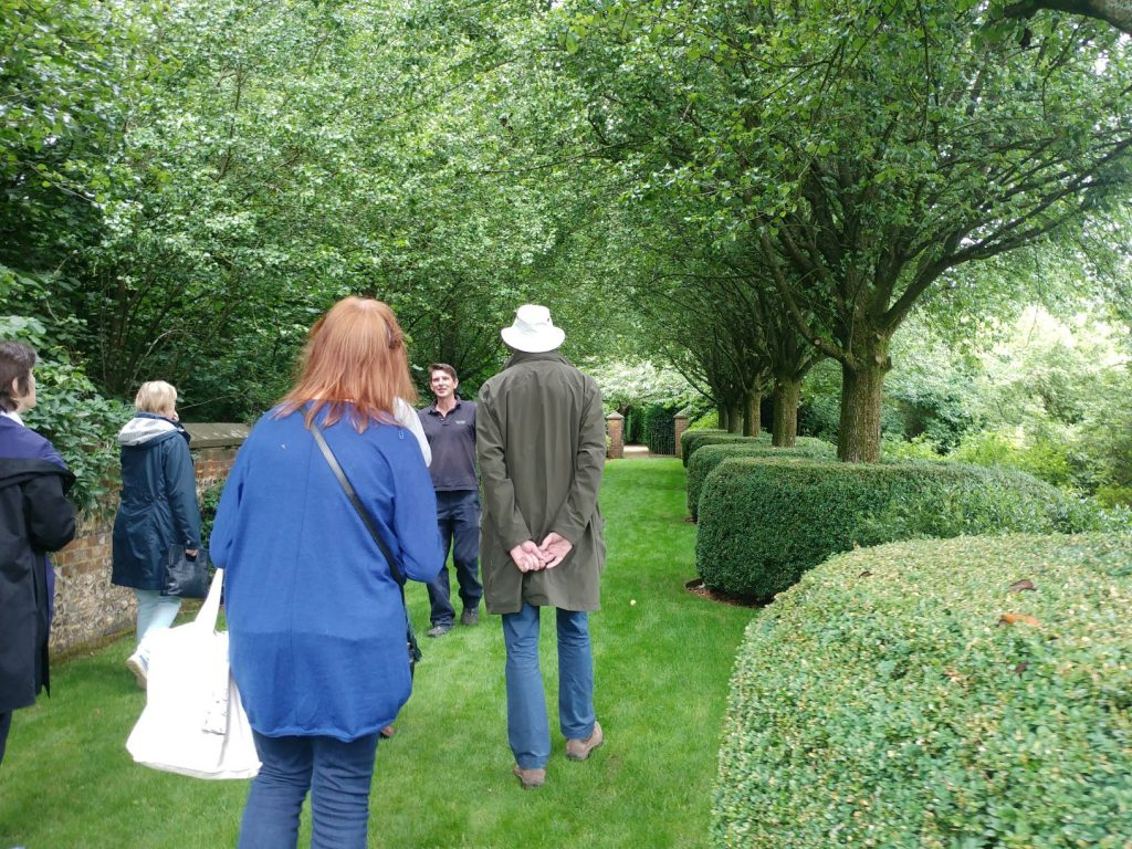 Garden visitors on a tour