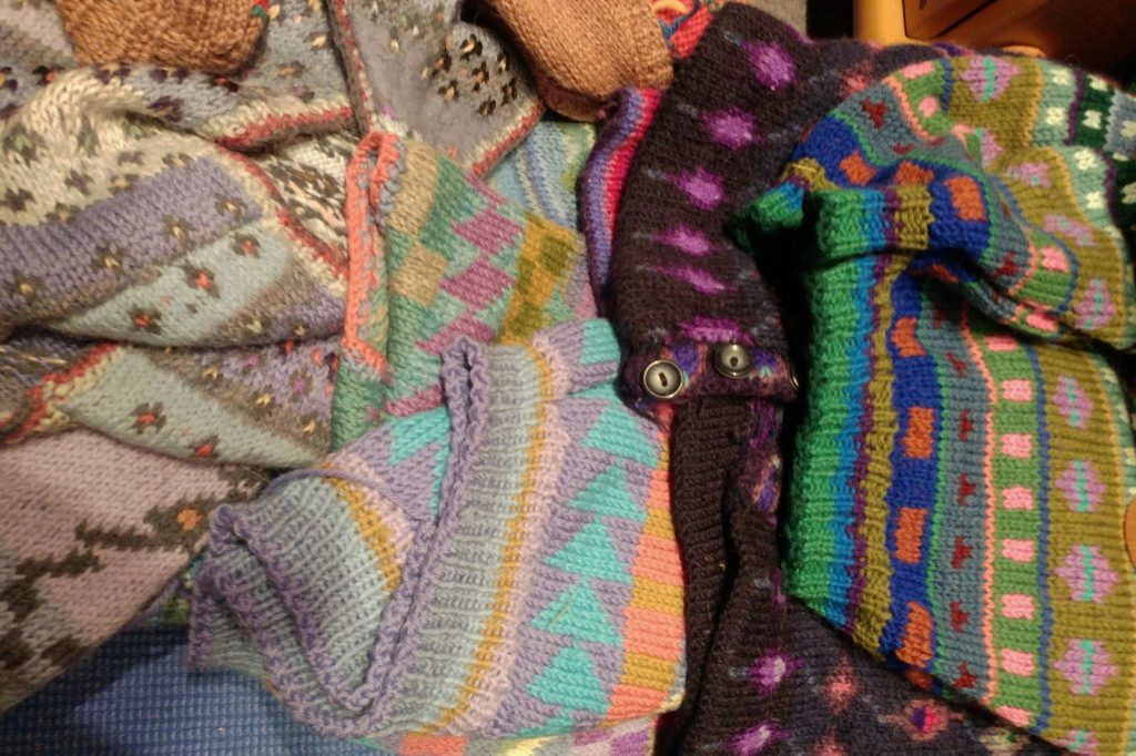 Knitting influenced by Kaffe Fassett