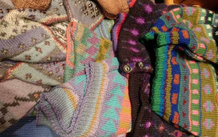 Knitting influenced by Kaffe Fassett