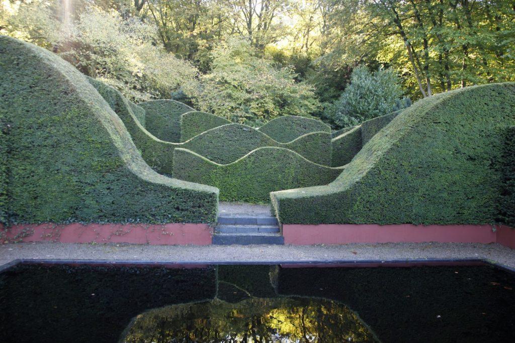 Reflecting Pool at Veddw. Copyright Charles Hawes