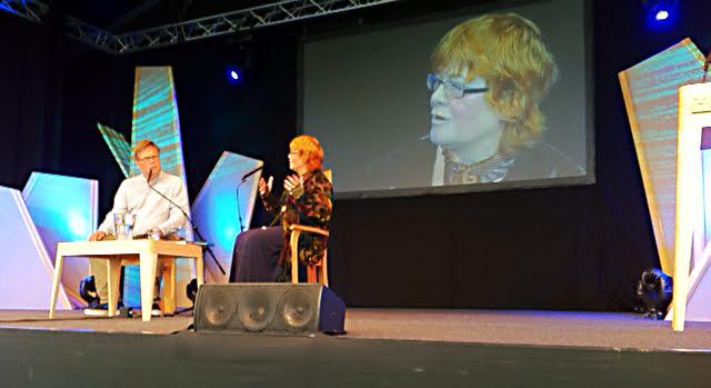 Anne Wareham at Hay Festival copyright Charles Hawes