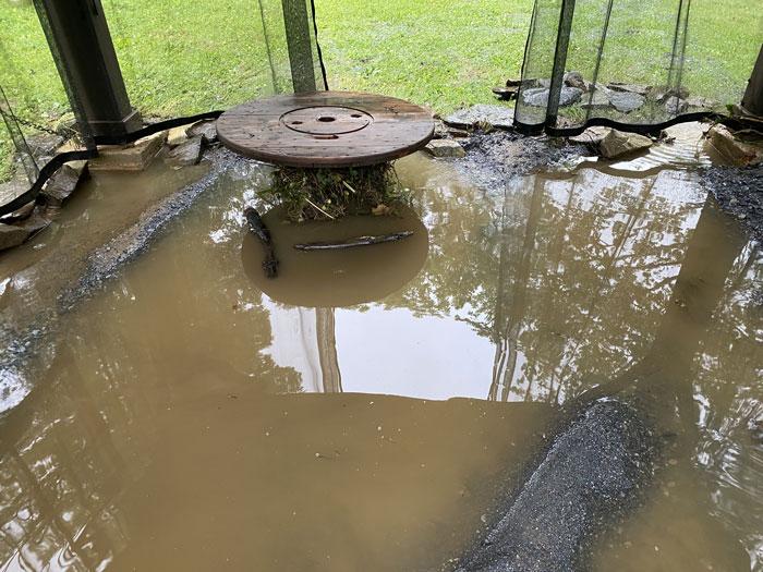 flooded pavillion