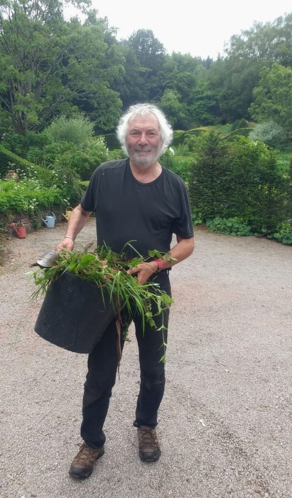 Charles with weeds